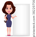 Businesswoman cartoon character for design 38220756
