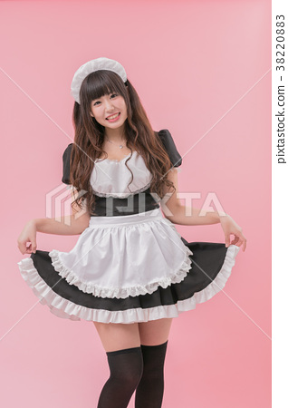 Black Maid Cosplay Skirt 38220883