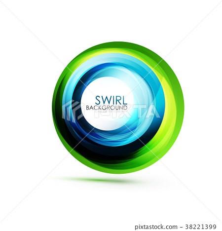 Abstract Swirl Banner Circle Vector Abstract Stock