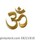 Om Good Energy Symbol. 3D Render Illustration 38221816