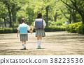 兒童小學學生出勤圖像 38223536
