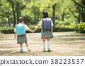 兒童小學學生出勤圖像 38223537