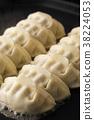 餃子 碎肉蔬菜餡的餃子 煎鍋貼 38224053