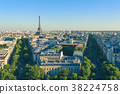 cityscape of paris at dusk 38224758