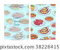Thai food restaurant menu cover with asian dishes 38226415