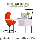 Office Workplace Concept Vector. Furniture 38227357