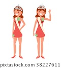 Beauty Pageant Vector. Woman On Beauty Pageant 38227611