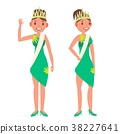 Beauty Pageant Vector. Woman On Beauty Pageant 38227641