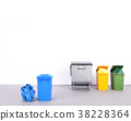 Colorful recycle bins on white background. 38228364