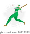 Baseball player, vector illustration in flat style 38228535