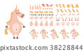 unicorn creation cartoon 38228844