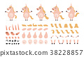 unicorn cartoon set 38228857