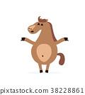 horse cartoon character 38228861