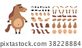 creation cartoon horse 38228884