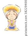 襯墊的無袖和服夾克 笑臉 微笑 38229400