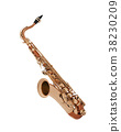 Saxophone isolated 38230209