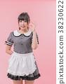 清潔系統女僕cosplay OK標誌 38230622