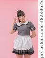 清潔系統女僕cosplay OK標誌 38230625