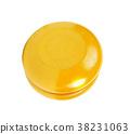 Yellow yo yo isolated 38231063