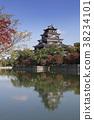 히로시마 성, 가을, 쾌청 38234101