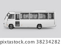 3D render of a bus on a white background 38234282