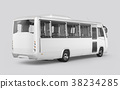 3D render of a bus on a white background 38234285
