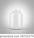 3d rendering of jar of sports nutrition on a white 38234379