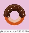도넛, 벡터, 핑크 38236530