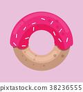 도넛, 벡터, 핑크 38236555