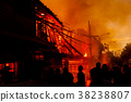 The silhouette of Burning house 38238807