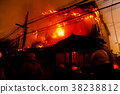 The silhouette of Burning house 38238812