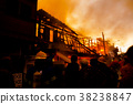 The silhouette of Burning house 38238847