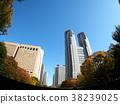 東京 東京都廳 藍天 38239025