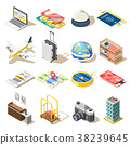 Travel Isometric Icons 38239645