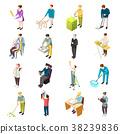 Domestic Servant Isometric Icons 38239836