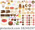 Sweets illustration set 38240297