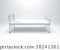 Hospital bed on white background 38241361