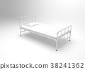 Hospital bed on white background. 38241362