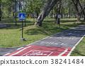 bike lane in the park 38241484