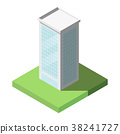 Vector Isometric of Modern Office Tall Building 38241727