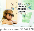 Learn a Language online text with little girl 38242178
