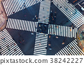 Aerial view of a big intersection in Tokyo 38242227