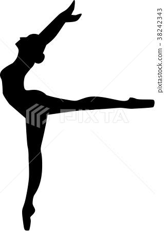Ballerina Silhouette 38242343