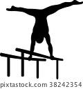 Gymnastics at parallel bars 38242354