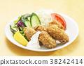 海蛎煎 油炸的 油炸食品 38242414