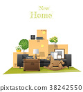 Moving home concept background 38242550