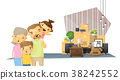 Moving home concept background with happy family 38242552