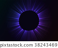 black hole in abstract blue background 38243469