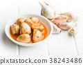 Tasty preserved garlic. 38243486