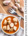 Tasty preserved garlic. 38243496